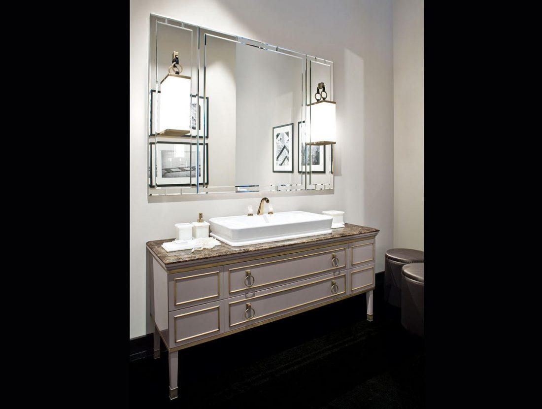 Арт деко стиль в интерьере ванной комнаты 5