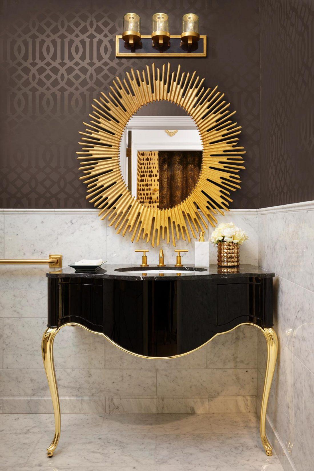 Арт деко стиль в интерьере ванной комнаты 6