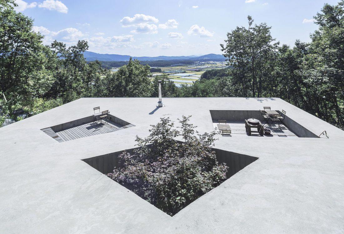 Дом на склоне горы от студии BCHO Architects 1