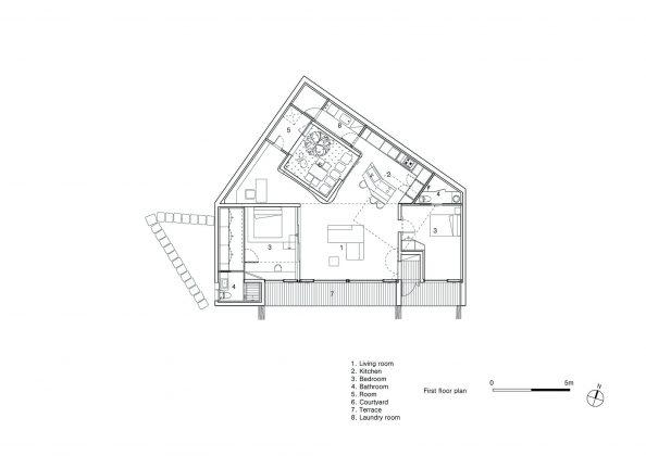Дом на склоне горы от студии BCHO Architects 34