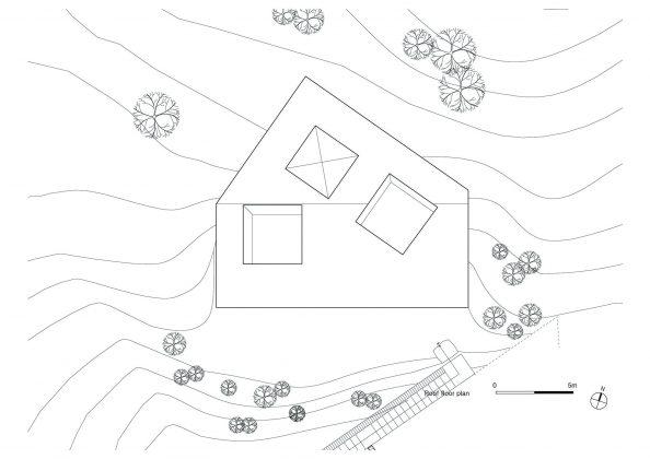Дом на склоне горы от студии BCHO Architects 35