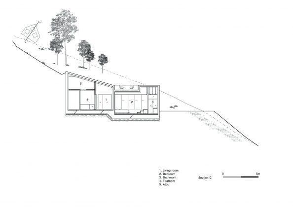 Дом на склоне горы от студии BCHO Architects 36