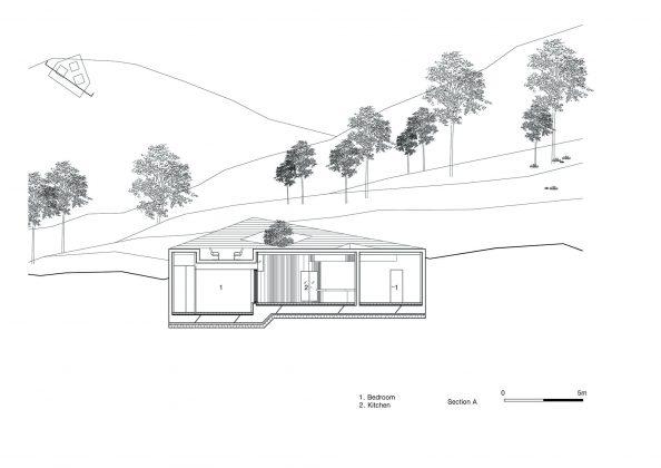 Дом на склоне горы от студии BCHO Architects 37