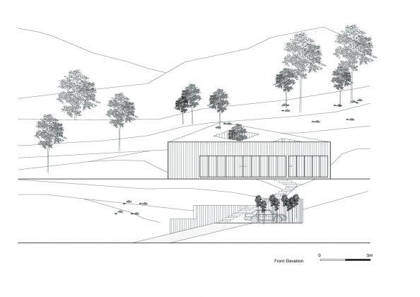 Дом на склоне горы от студии BCHO Architects 39