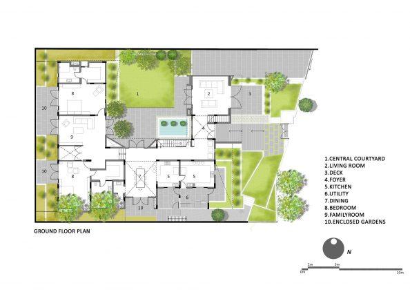 Дом с внутренним двором от Architecture Paradigm 21