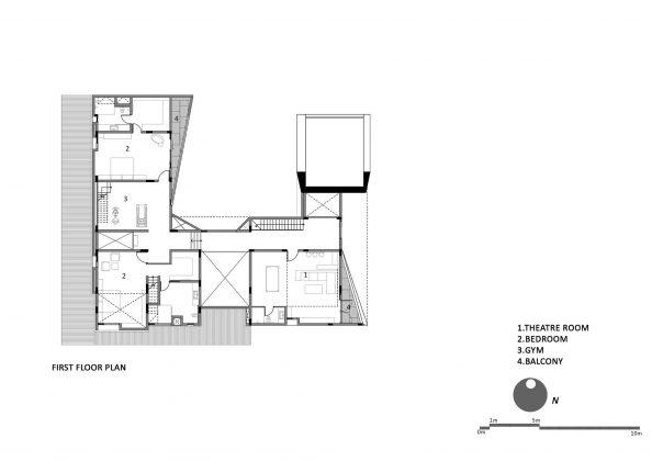 Дом с внутренним двором от Architecture Paradigm 23