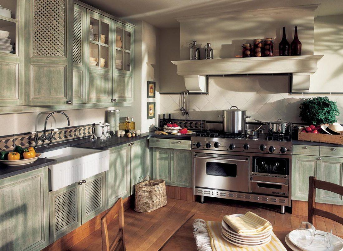 Кухня в стиле прованс 17