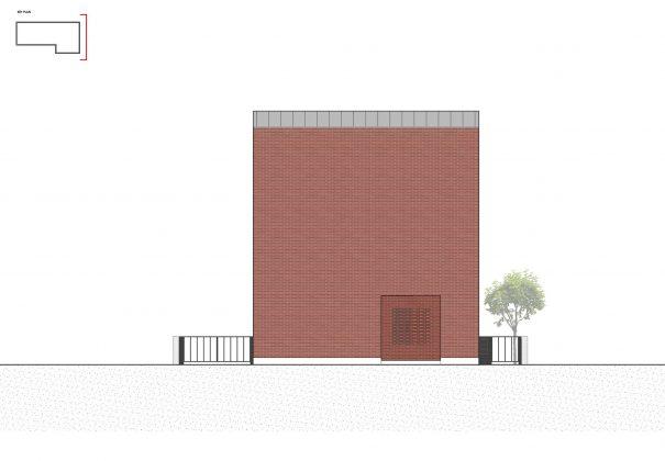 Квадратный красный дом в Южной Корее по проекту ArchiWorkshop 19