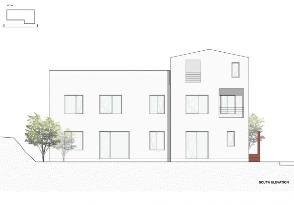 Квадратный красный дом в Южной Корее по проекту ArchiWorkshop 20