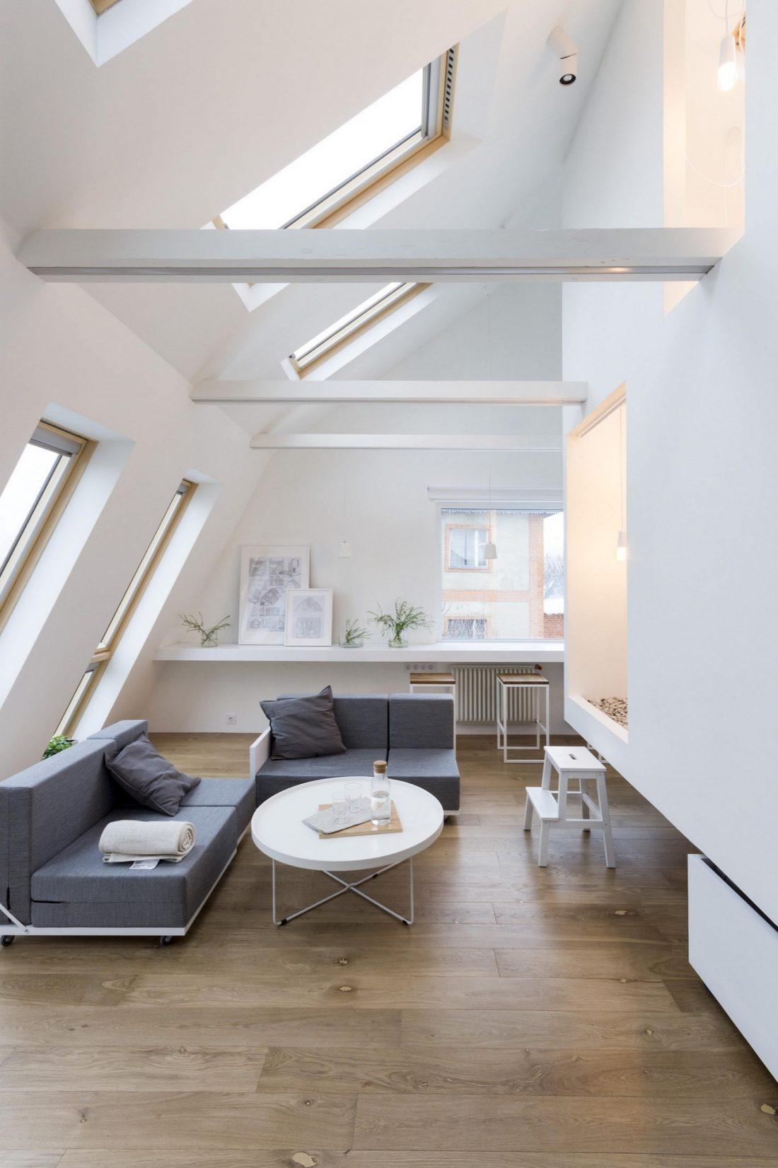 Проект мансардной квартиры от студии Ruetemple в Москве 17
