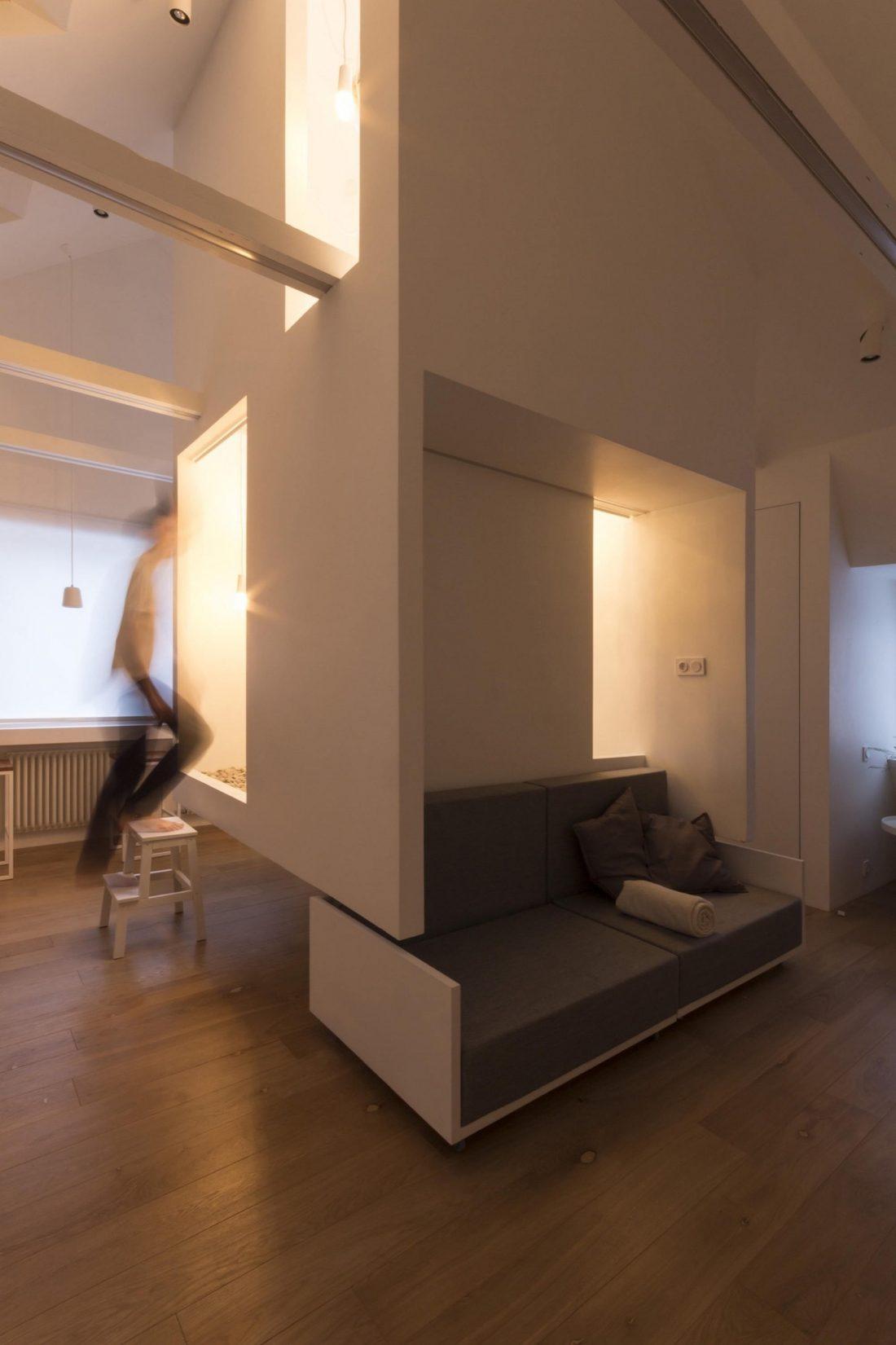 Проект мансардной квартиры от студии Ruetemple в Москве 24