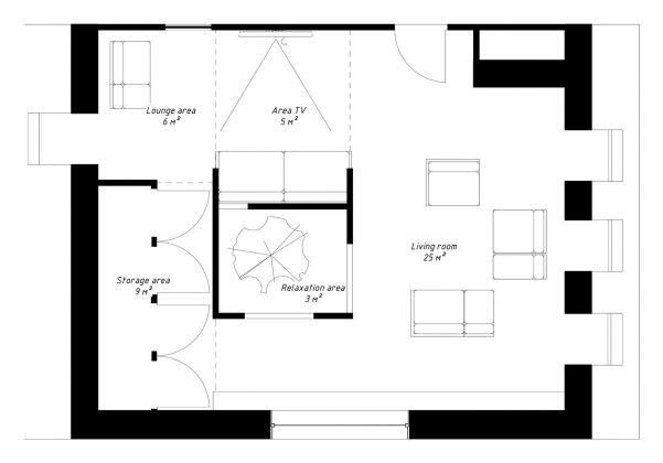Проект мансардной квартиры от студии Ruetemple в Москве 35