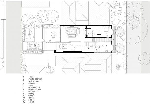Современный дом из Викторианской резиденции проект студии Architecton 17