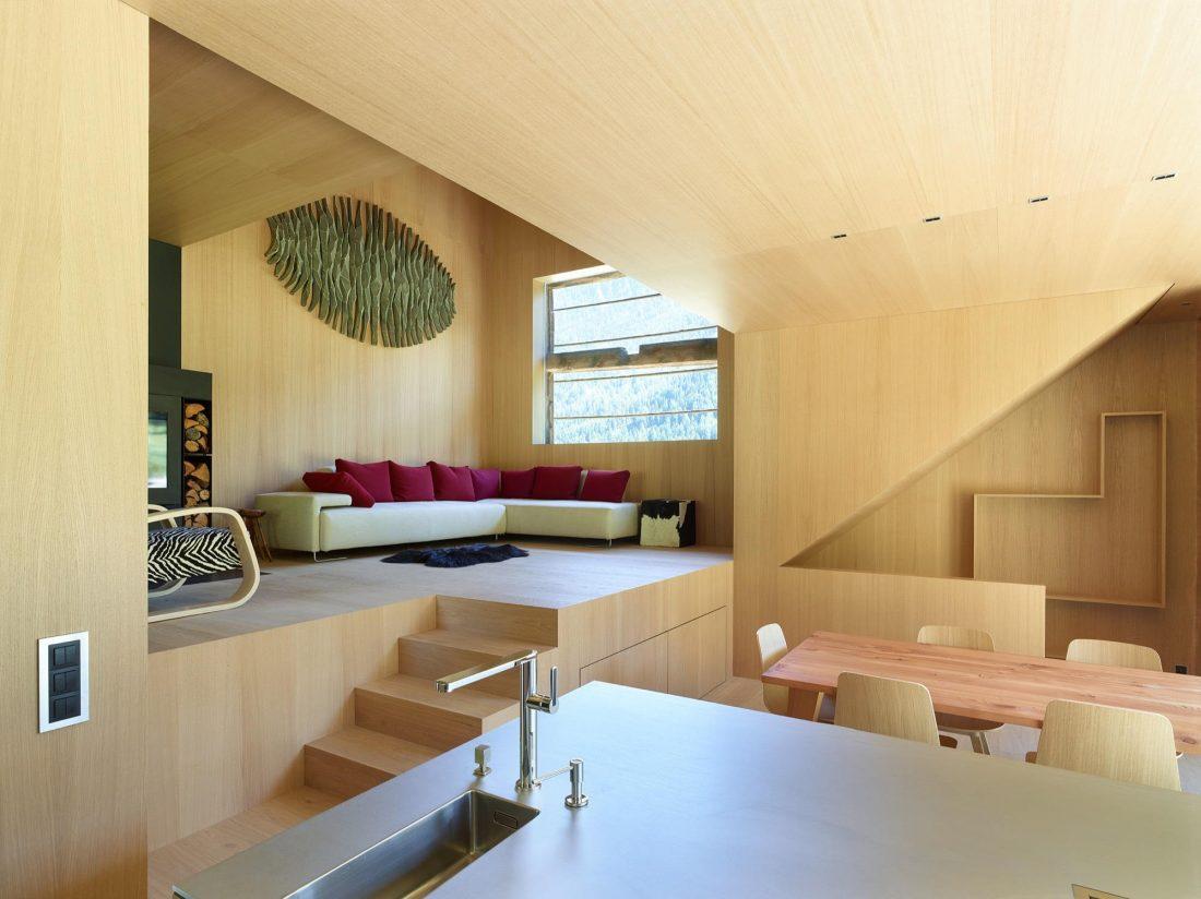 Современный дом из старого амбара в Швейцарии от студии Savioz Fabrizzi Architectes 5