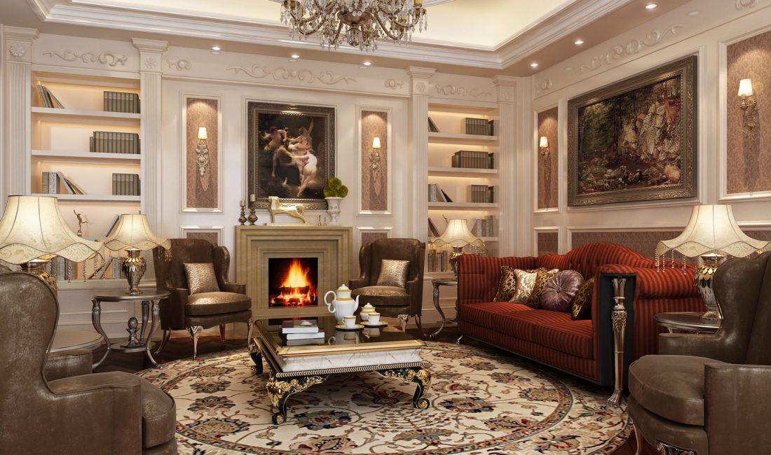 Стиль модерн в интерьере гостиной 1