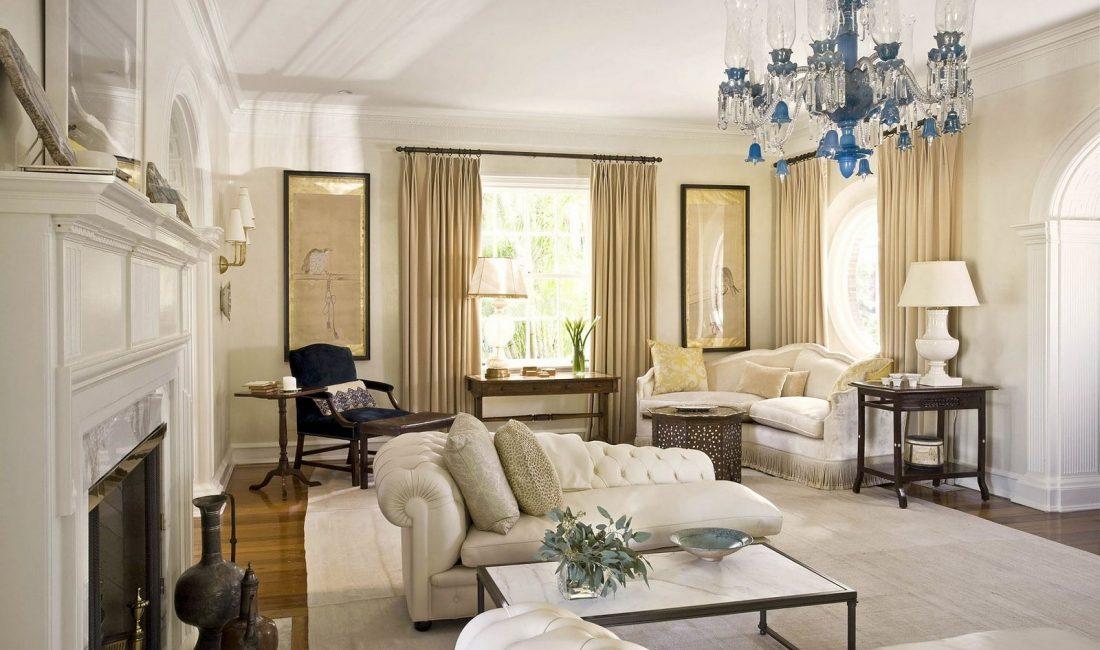 Стиль модерн в интерьере гостиной 5