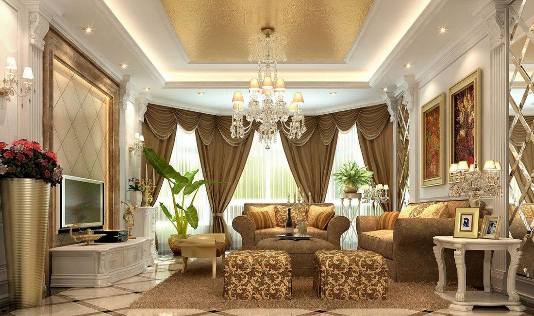 Стиль модерн в интерьере гостиной 6
