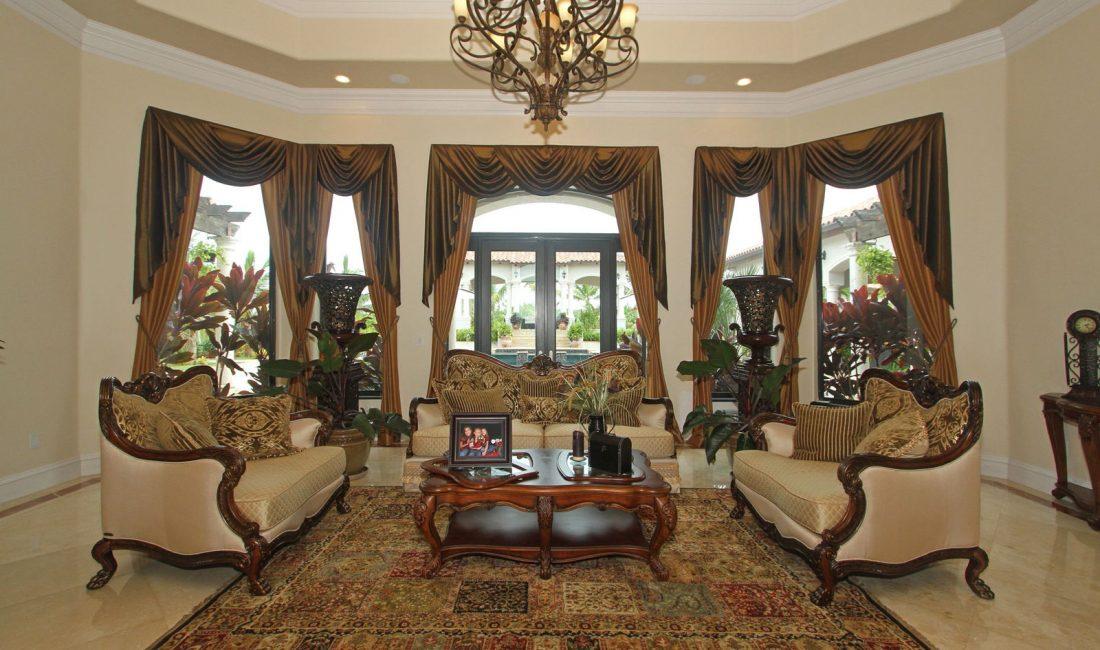 Стиль модерн в интерьере гостиной 9