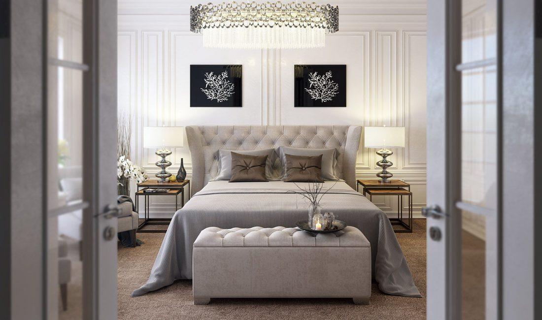 Стиль модерн в интерьере спальни 1