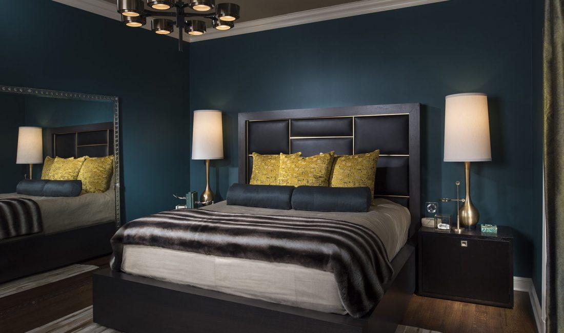 Стиль модерн в интерьере спальни 10