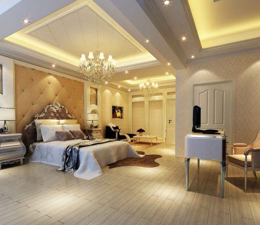 Стиль модерн в интерьере спальни 13