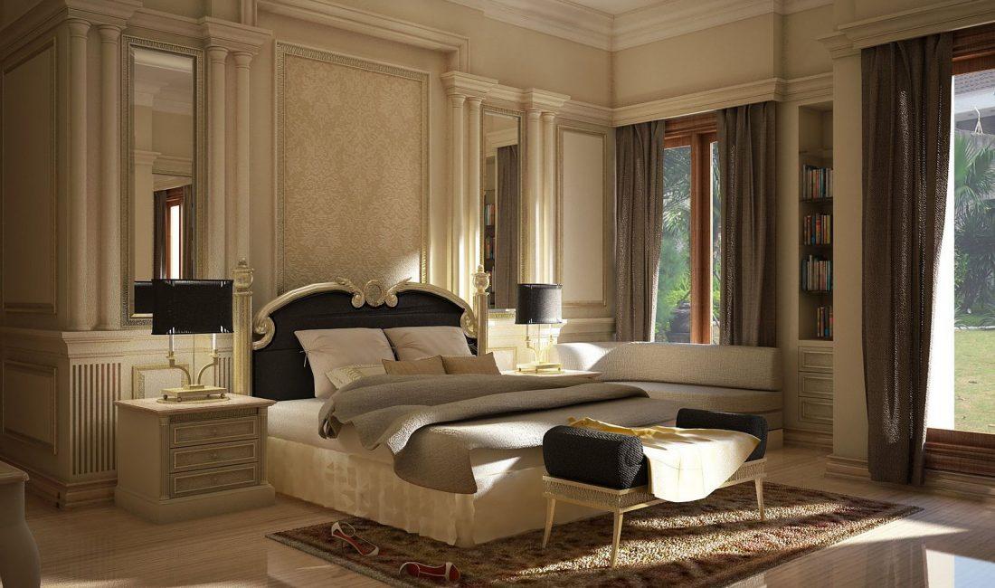 Стиль модерн в интерьере спальни 2