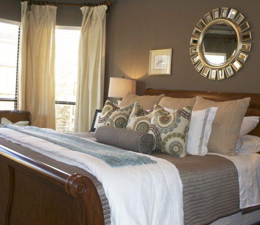 Стиль модерн в интерьере спальни 20
