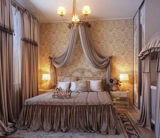Стиль модерн в интерьере спальни 21