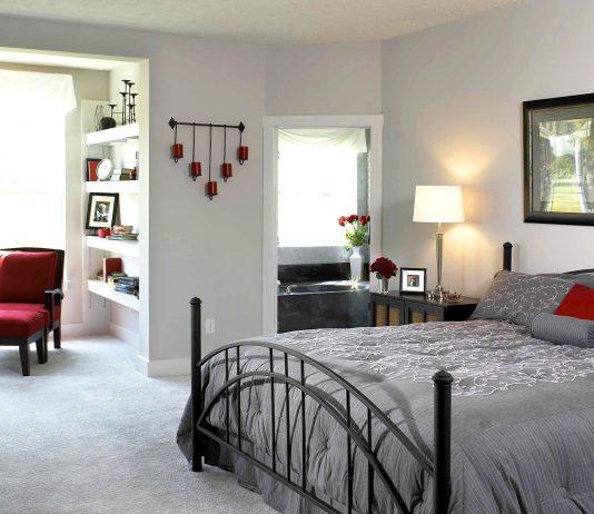 Стиль модерн в интерьере спальни 23