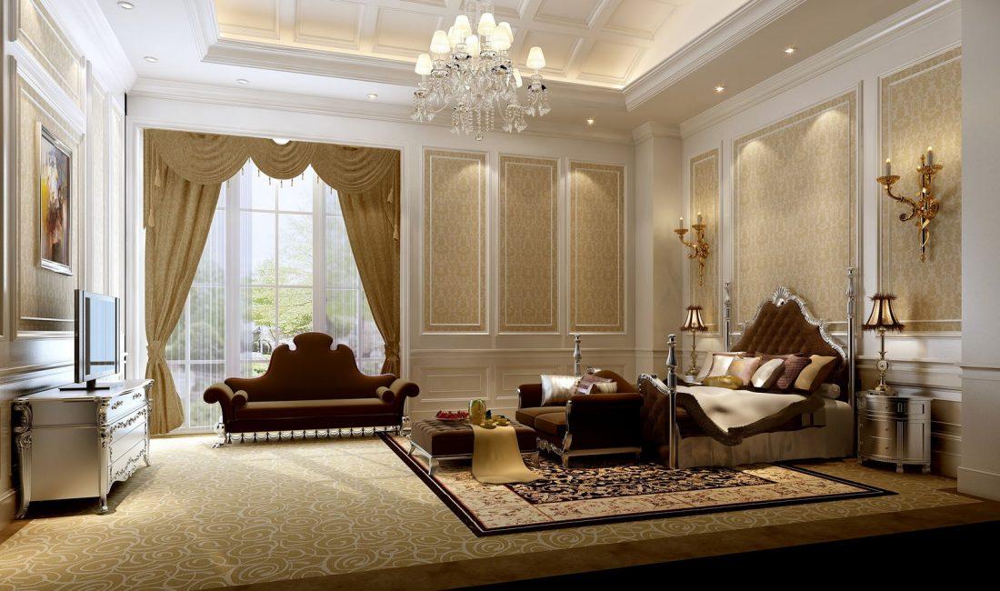 Стиль модерн в интерьере спальни 4
