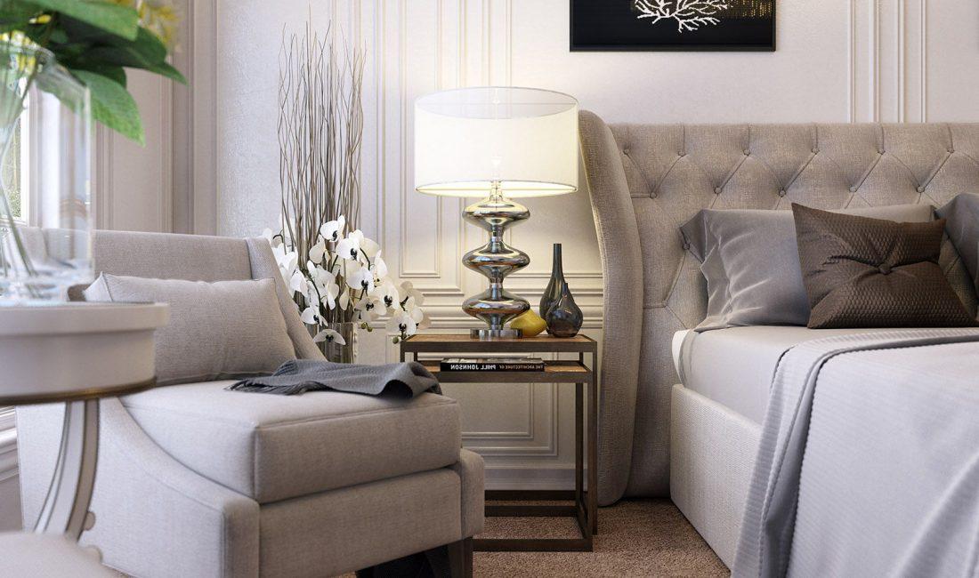 Стиль модерн в интерьере спальни 8