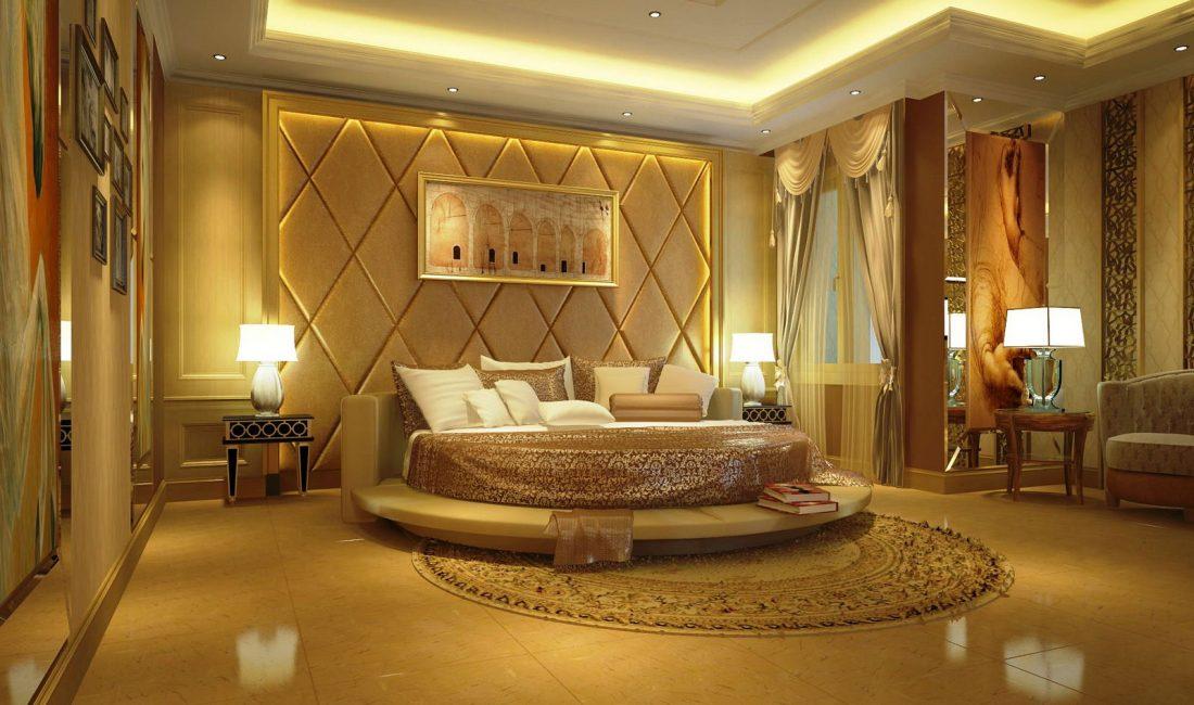 Стиль модерн в интерьере спальни 9