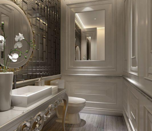 Стиль модерн в интерьере ванной комнаты 11