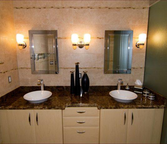 Стиль модерн в интерьере ванной комнаты 12