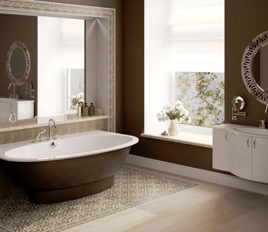 Стиль модерн в интерьере ванной комнаты 13