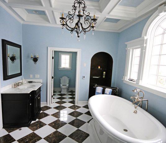 Стиль модерн в интерьере ванной комнаты 14
