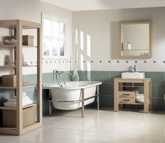 Стиль модерн в интерьере ванной комнаты 17
