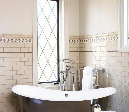 Стиль модерн в интерьере ванной комнаты 18