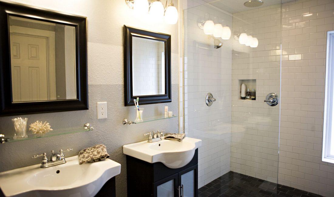 Стиль модерн в интерьере ванной комнаты 2