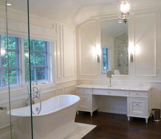Стиль модерн в интерьере ванной комнаты 20