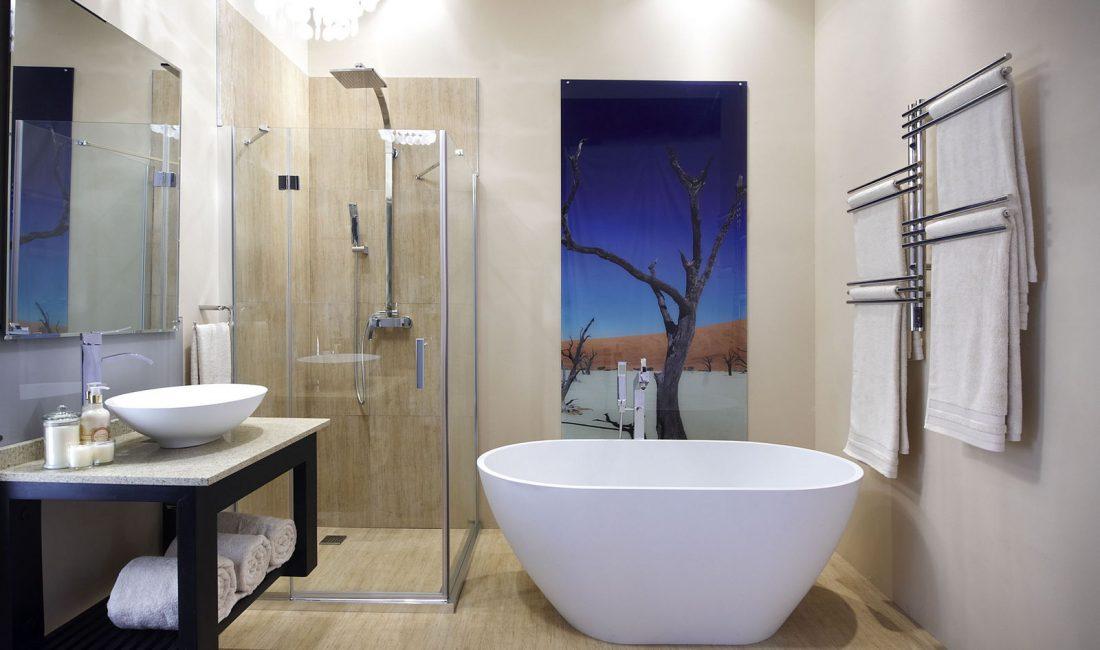 Стиль модерн в интерьере ванной комнаты 3