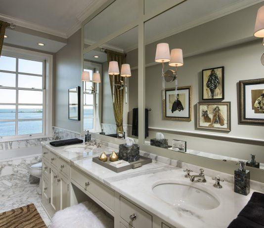 Стиль модерн в интерьере ванной комнаты 4