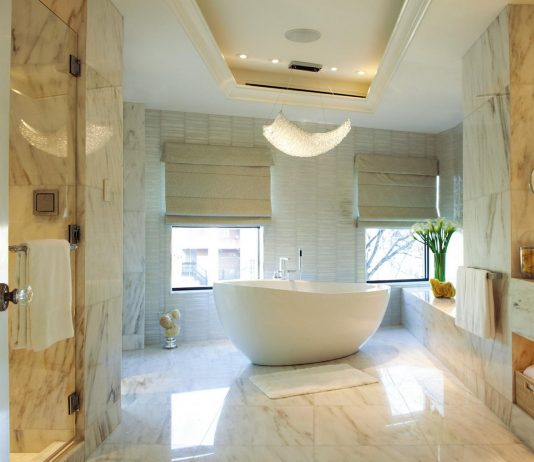 Стиль модерн в интерьере ванной комнаты 5