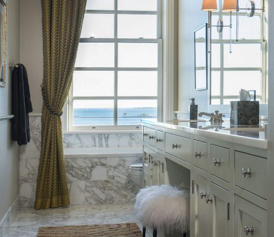 Стиль модерн в интерьере ванной комнаты 7