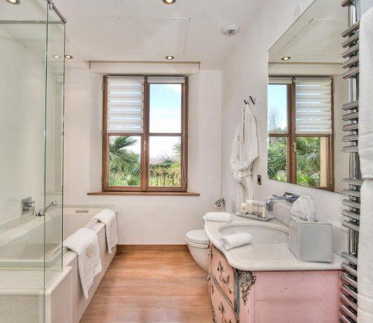 Стиль модерн в интерьере ванной комнаты 8
