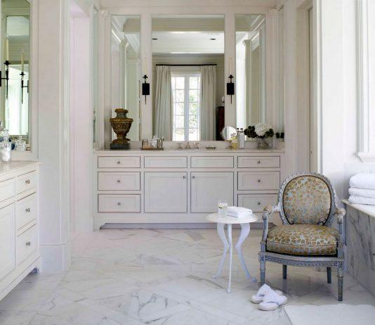 Стиль модерн в интерьере ванной комнаты 9