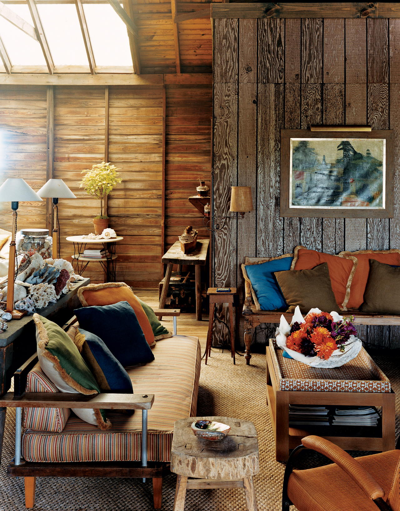 Rustic living room curtains
