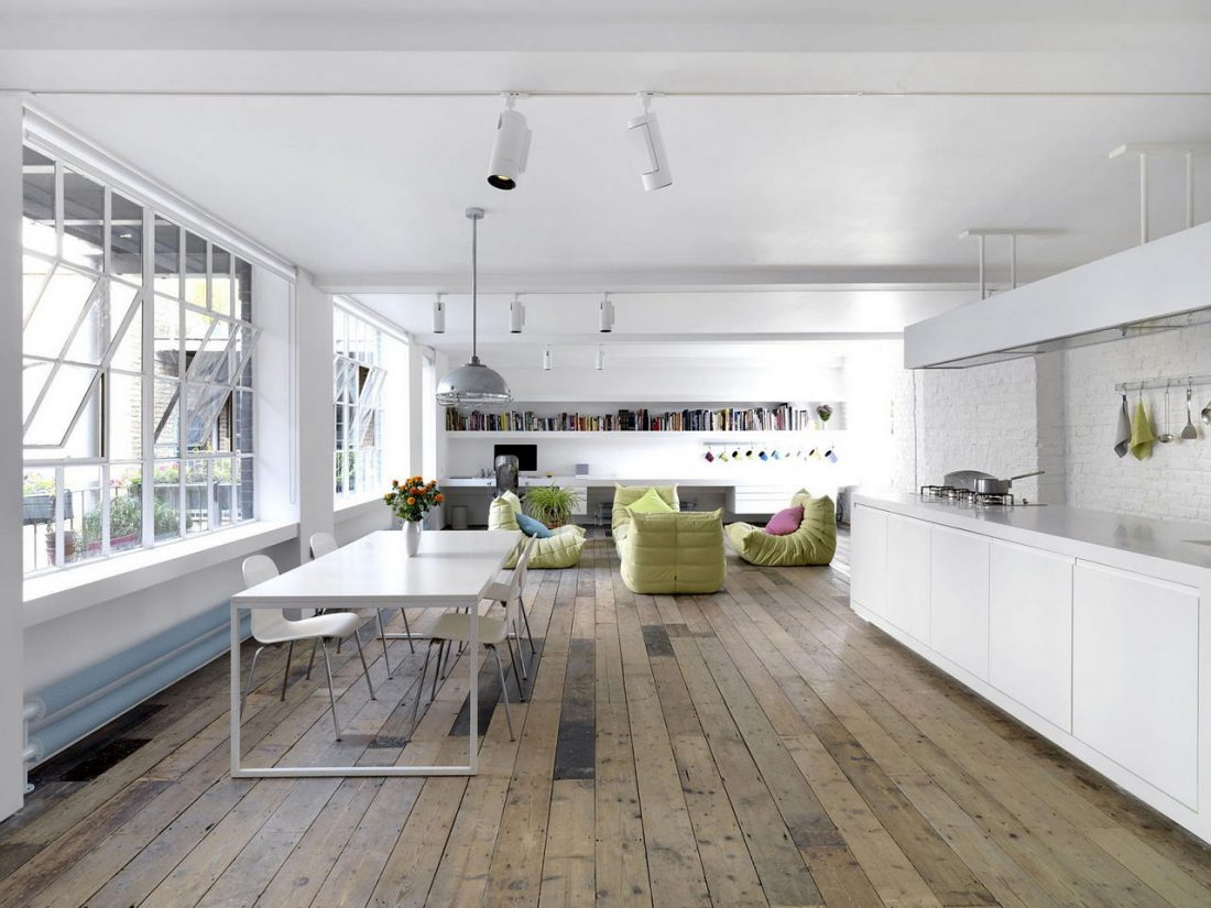 Дизайн интерьера квартиры в стиле лофт 13