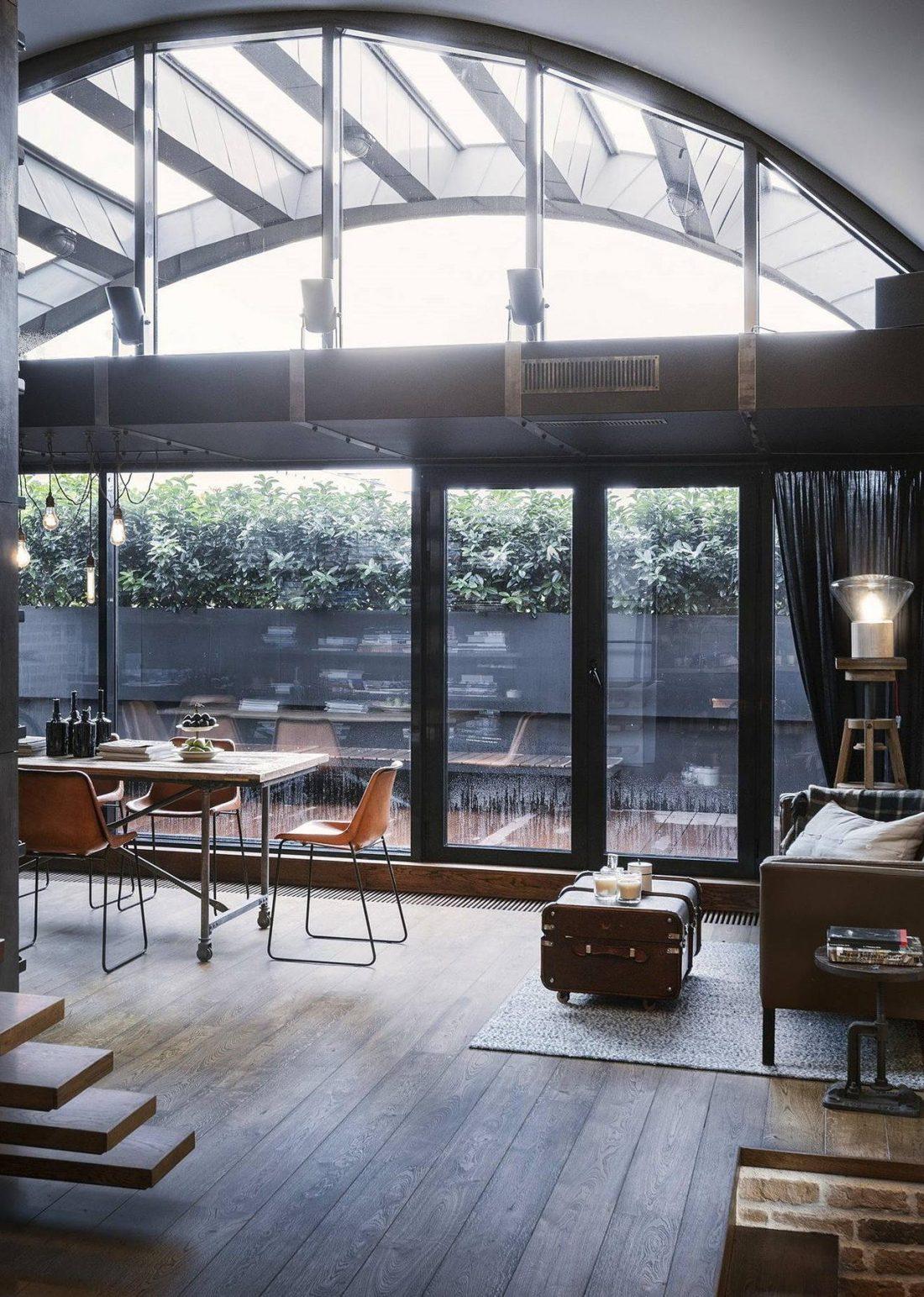 Дизайн интерьера квартиры в стиле лофт 2