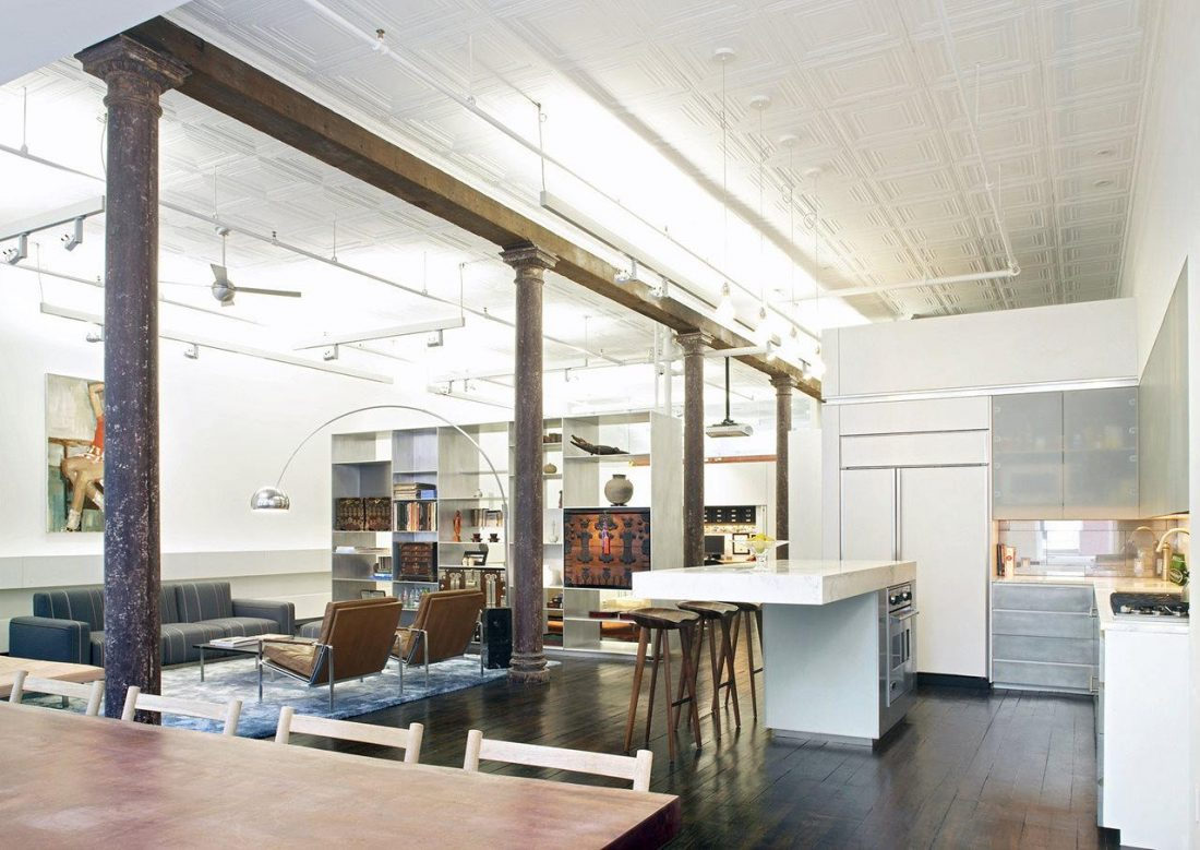 Дизайн интерьера квартиры в стиле лофт 23